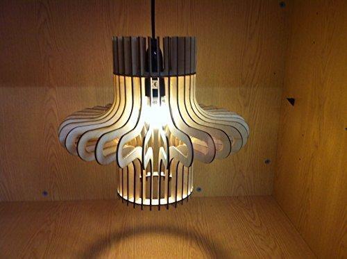 Onda Diseño Corte Láser De Madera Lámpara Colgante Pantalla ...
