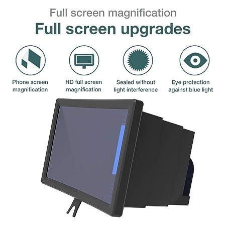 Screen Magnifier, teléfono móvil de 12 pulgadas Lupa 3D ...