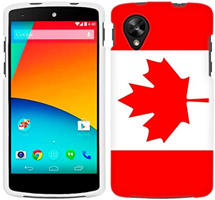 online store 69a91 a81c1 LG Nexus 5 Canada Flag Phone Case: Amazon.ca: Cell Phones & Accessories