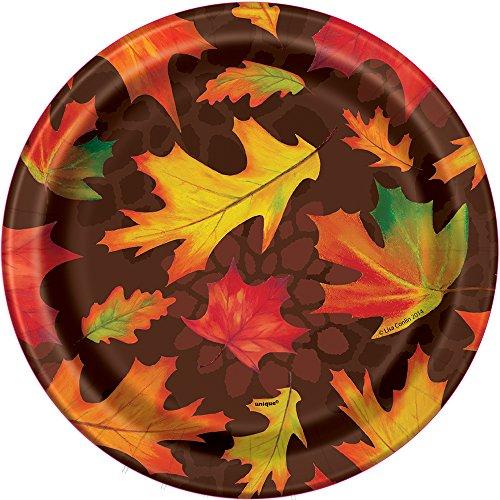 Fall Leaves Dessert Plates, 8ct