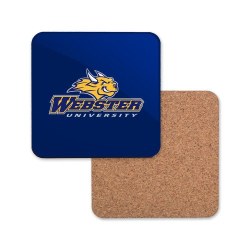 Webster Hardboard Coaster w/Cork Backing 'Primary Mark' (Webster Coasters)