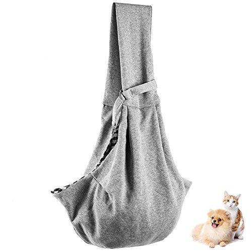 애완동물 슬링(sling) 견포옹뉴 슬링(sling) 백 소형견 개와 고양이 겸용 애완동물 슬링(sling) 백 애완동물 용품 외출 포옹 백 뛰어나가 방지용 스트랩부 묘용/개 용 도그 (경사)기울기 숄더백 컬러풀 도그 슬링(sling) 5kg까지의 내구성 (그레이)
