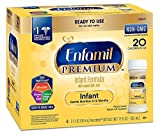 Enfamil PREMIUM Non-GMO Infant Formula, Ready to Use 2 Fluid Ounce Nursette Bottle, Pack of 48