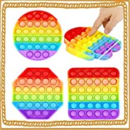 IGINOA Cheap Push Pop Bubble Fidget Toys, Tactile Logic Game, Great for Kids and Adults