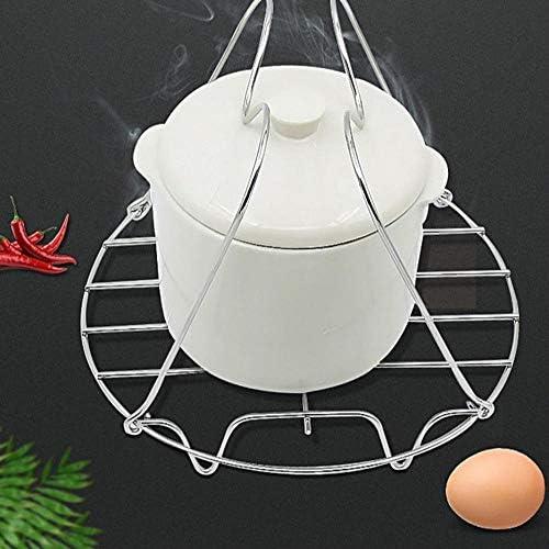 FloraGrantnan Paniers cuit-Vapeur Support de Cuisson à Vapeur pour Outil de Cuisson Domestique en Acier Inoxydable, Support de Vapeur Pliant, Moule à gâteau au Fromage