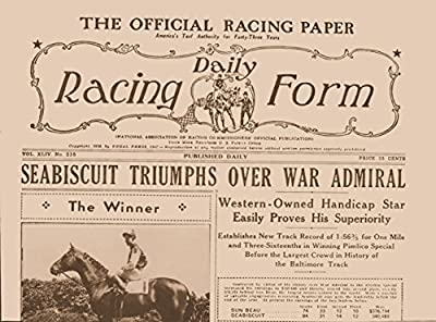 12x18 Poster Seabiscuit Winner As He Defeats War Admiral Racing Daily Form Headlines