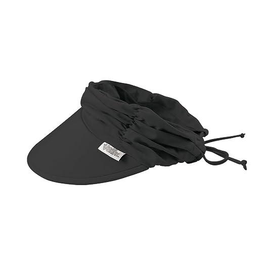 e65e101317f Amazon.com  UV SKINZ UPF50+ Womens Swim Visor-Black  Clothing