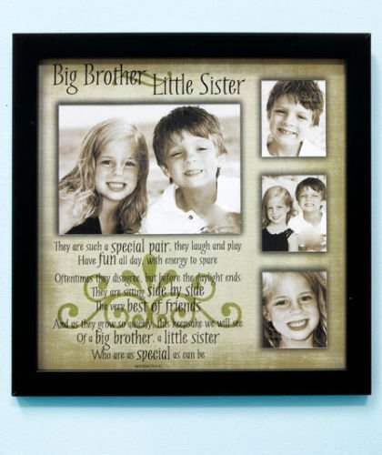 Big Brother Little Sister Sibling Collage Picture Frame With Poem To ...