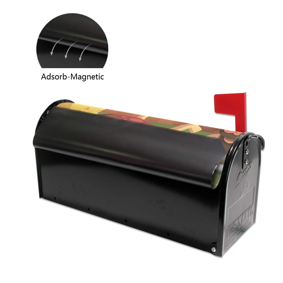 HEOEH - Cubierta magnética magnética magnética para buzón de Regalo, diseño de Turquesa, tamaño Grande, 63,5 x 50,8 cm 0bfab7