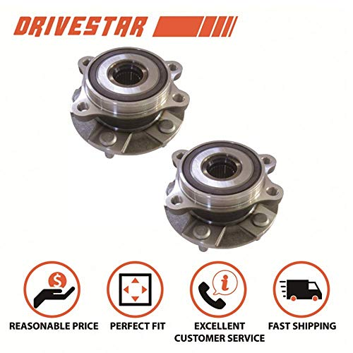 (Brand New DRIVESTAR 513257X2 Set:2 Front Wheel Hub & Bearing Assembly for Toyota RAV4 Prius V Scion xB tC)