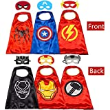 Kids Costumes Capes and Masks for Kids - Superhero Double Side Cape Best Superhero Toys and Kids Gifts Red