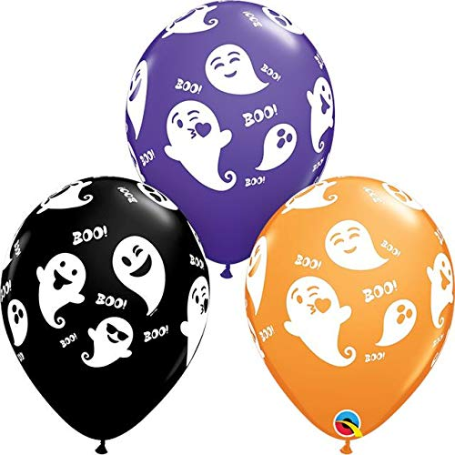Qualatex 79213 Halloween Emoticon Ghosts 11 Inch Latex
