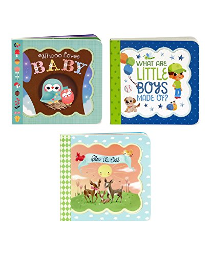 3 Pack Greeting Card Books: Whooo Loves Baby, Bless This Child, What Are Little Boys Made Of? (Little Bird Greetings)