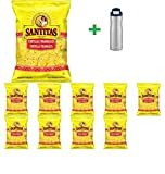 Santitas Yellow Corn Tortilla Triangles - 11oz(10 PACK) + Contigo Autoseal Chill Stainless Steel Hydration Bottle 24oz(Combo Offer)