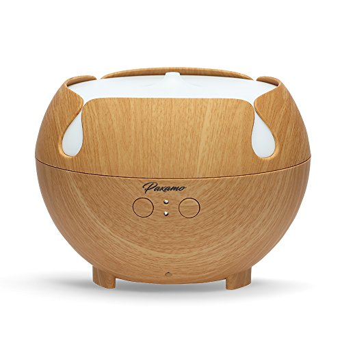 600ml Aromatherapy Diffuser, Paxamo Extra Large Diffuser Wood Grain Humidifier, Premium Therapy Diffuser for Essential Oils, Last Overnight for Home & Office