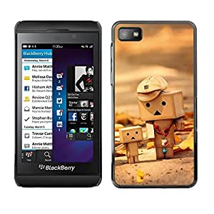 PC/Aluminum Funda Carcasa protectora para Blackberry Z10 Toys 3D Figurine Wood Art Child Cute Autumn / JUSTGO PHONE PROTECTOR