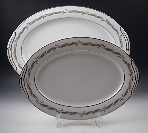 (Lot of 2 Noritake China GAYLORD Oval Serving Platters EXCELLENT)