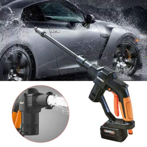 MONIPA High Pressure Car Washer Portable Cleaner, 12V Car Auto Washing Gun Wash Pump Machine, 5m Hose & Variable Nozzle Lance Adjustable Spraying Angle for Power Household Cleaning or Watering (Best Car Wash Machine)