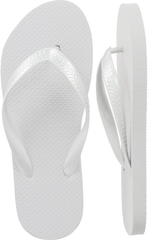 Women's White Flip Flops Assorted Sizes