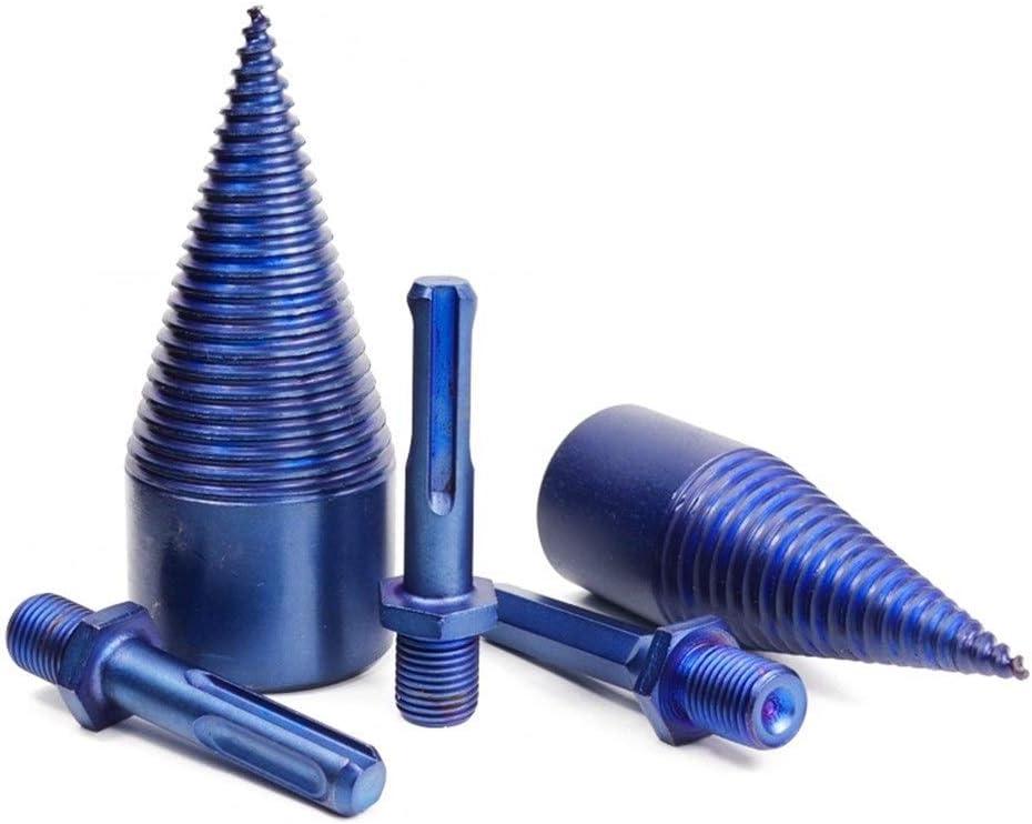 SHENYUAN 1pc Nano Blue Coated HSS Firewood Splitter Drill Bit Wood Drilling Tools Cone Drill Bit Firewood Chopper Breaker 32mm 42mm Color : Hexagonal, Size : 32MM