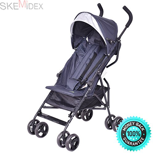 SKEMiDEX—Lightweight Umbrella Baby Stroller Toddler Travel Sun Canopy Storage Basket. Stroller accepts all Classic Connect & Click Connect Infant Car Seats