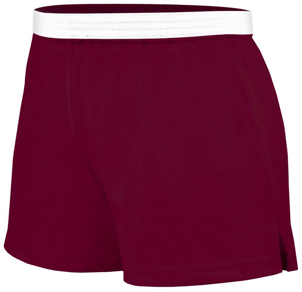 Soffe Juniors Athletic Short, Maroon, Medium