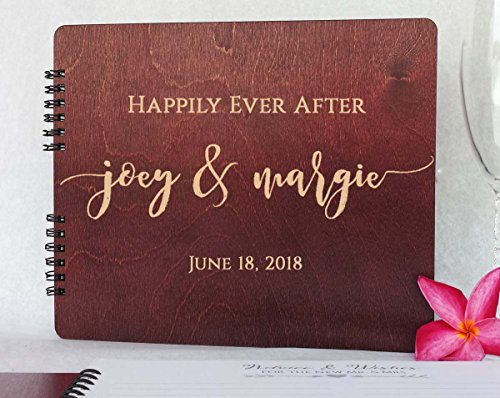 Album Guest Book Photo (Wooden Wedding Guest Book Personalized (11