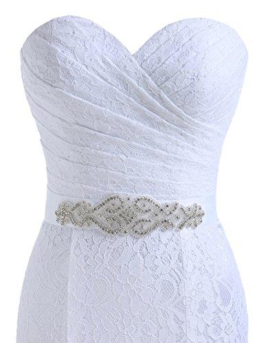 Beautyprom Vestidos de Boda del cordón de la Sirena de Novia de la Mujer Marfil