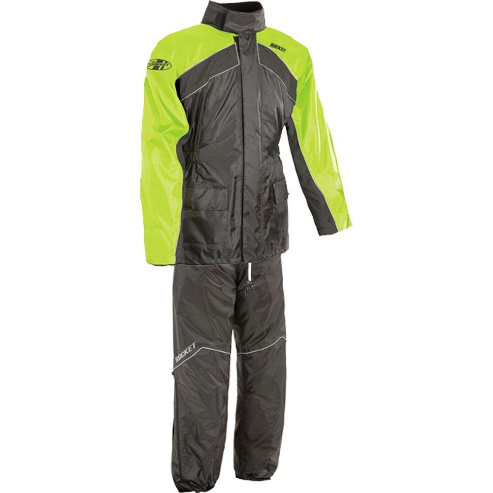 Joe Rocket RS-2 Men's 2-Piece Street Racing Motorcycle Rain Suits - Hi-Viz/Neon / 2X-Large