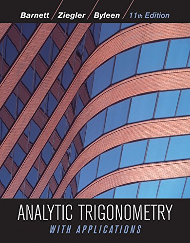 Analytic Trigonometry with Applications 11e + WileyPLUS Registration Card