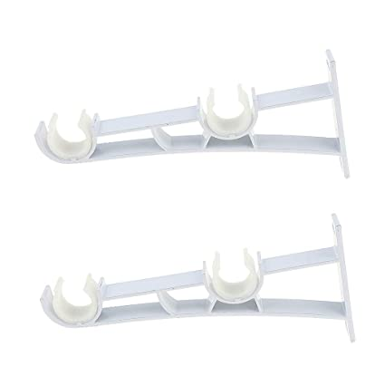 B Blesiya Pack Of 2 Premium Heavy Duty Double Curtain Rod Bracket