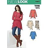 NEW LOOK Patterns Misses' Knit Tunics Size: A (XS-S-M-L-XL), 6415