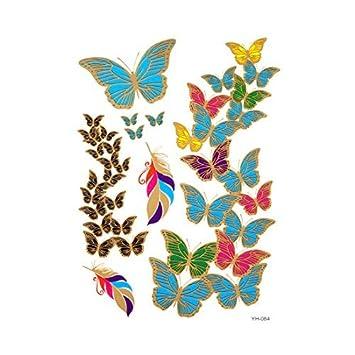 DealMux mariposa patrón resistente al agua arte de cuerpo del ...