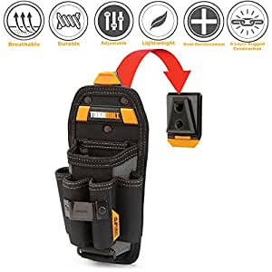 ToughBuilt - Technician 6 Pocket Pouch (Large) | 8 Pockets & Loops, Adjustable Pocket, Secure 4 Snug-fit Screwdriver, New Accessories, Multi-Tool Organizer (ClipTech Hub & Belts) (TB-CT-36-L6)