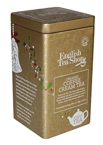 Cream Tea Hamper - English Tea Shop Coffee Cream Square Tin Nylon Pyramid, 30 Gram
