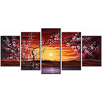blossom modern giclee canvas prints flowers artwork contemporary abstract floral paintings on canvas wall art for hot sale home decorations wall decor - Canvas Wall Decor