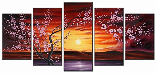 Plum Tree Blossom Modern Giclee Canvas Prints Flowers Artwork Contemporary Abstract Floral Paintings on Canvas Wall Art for Hot sale Home Decorations Wall Decor (Blossom Canvas Art)