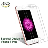 iPhone 7 Plus Screen Protector Glass, Hisili Apple iPhone 7 5.5-inch Tempered Glass Screen Protectors, 3D Touch Compatible, Clear, 2 Packs