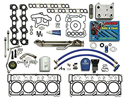 Ford Powerstroke EGR Complete Kit Coolant Filter Diesel 6.0L 2003-2007 Cooler