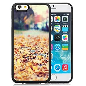 Fashionable and DIY Phone Case Design with Golden Autumn Leaves Blur iPhone 6 4.7inch TPU case Wallpaper