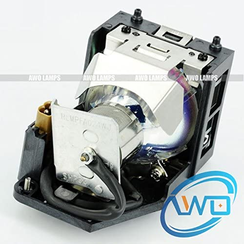 AWO Original Bulb Inside AN-100LP Replacement Lamp with Housing for Sharp DT-100 DT-500;XV-Z100 XV-Z3000 XV-Z3000U