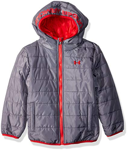 Under Armour Boys' Big Pronto Puffer Jacket, Graphite, Large (14/16)