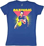 Big Bang Theory Bazinga Sheldon Cooper Juniors Royal Blue Tee (Small)