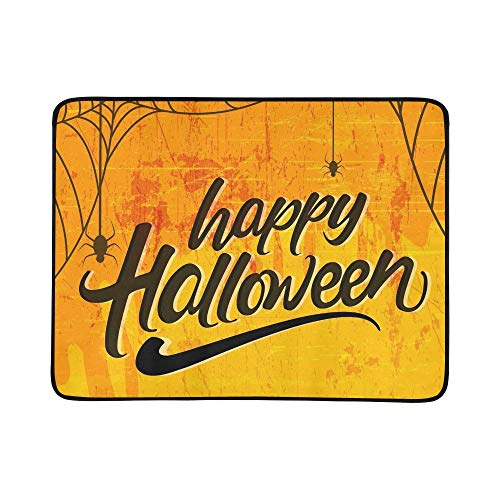GIRLOS Creative Text Happy Halloween Hand Lettering Portable