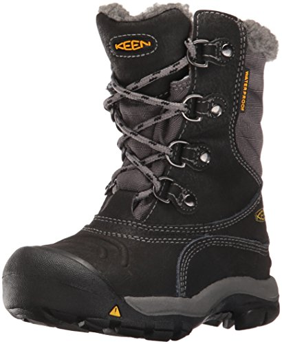 KEEN Kids' Basin WP Lace-up Boot, Black/Gargoyle, 12 M US Little Kid
