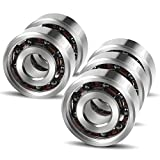 Coogam 606 Hybrid Ceramic Ball Bearing for Fidget Spinner DIY Replacement ,High Speed Smooth Quiet Durable,Si3N4 Silicon Nitride Black Ceramic,Pack of 5 (Size 606)