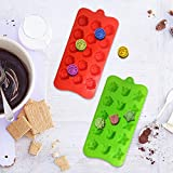 4 PACK Flower Shape Chocolate Candy Molds