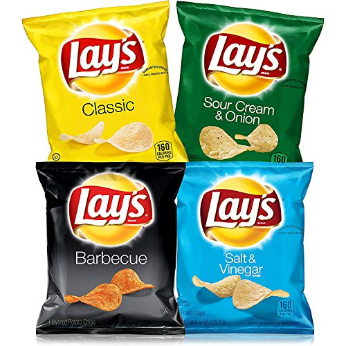 Lay's Kettle Cooked Potato Chips Variety Pack, 40 Count