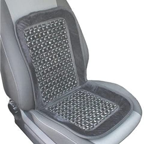 Wood Bead Seat Cover Massage Cool Premium Smoke Color Comfort Cushion - Reduces Fatigue - Woods Mesh