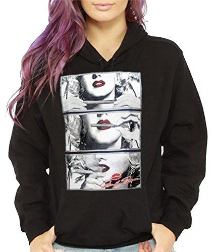 Women's Marilyn Monroe Hoodie Pullover Sweatshirt 420 Blunt smoking Urban Weed
